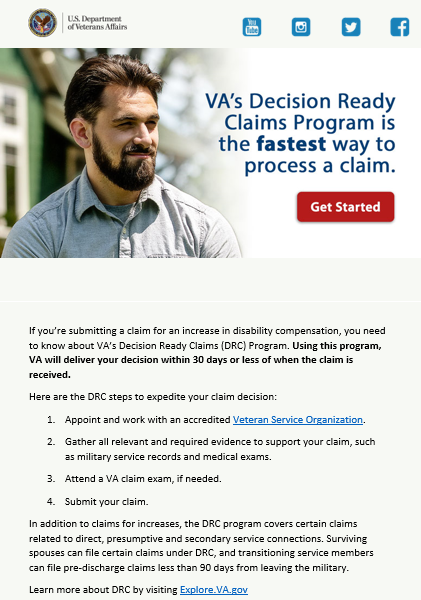 Receive VA Disability Claim Decisions in 30 Days or Less | Squawk Box